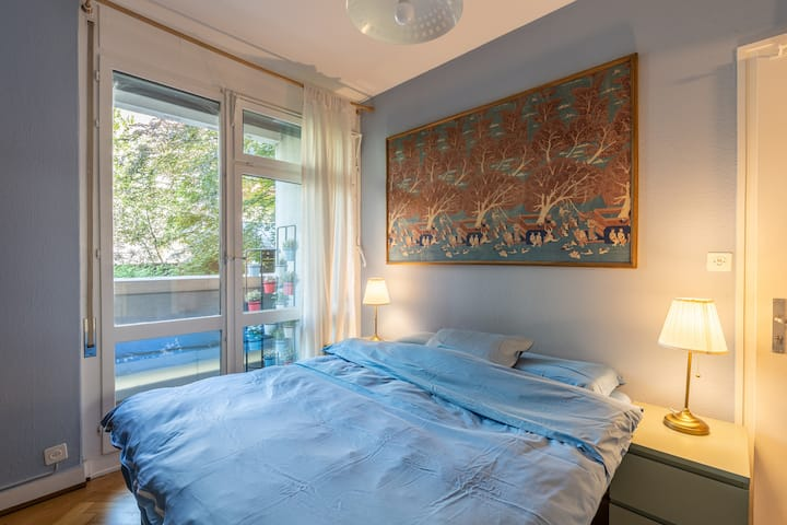 Cozy furnished studio in prime Geneva with balcony
