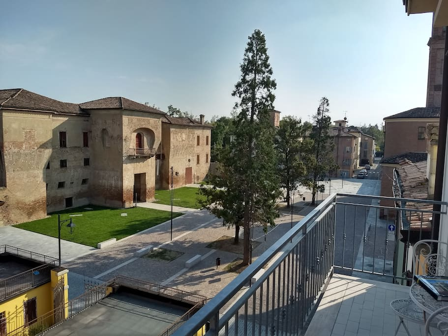 View of Piazza Rangoni from the balcony of the apt.