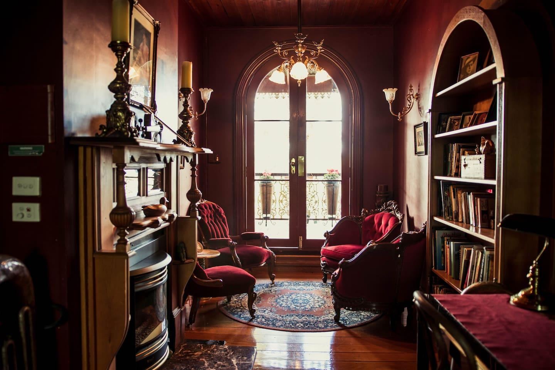 The Red Velvet Reading Room.