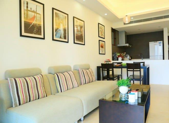 艾豪公寓-万宁神州半岛店 洗衣机、冰箱、厨房,洗浴用品一应俱全 拎包入住