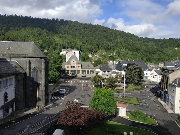 Gd ap 3étoiles 2ch wifi coeur Mont Dore superb vue