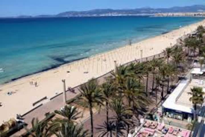 Bed and breakfast Playa de Palma Wi-Fi + Netflix