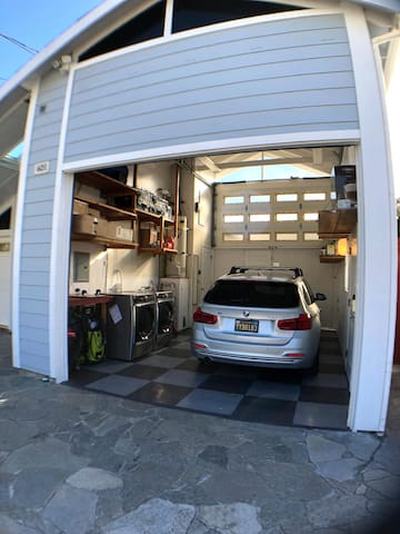 When you arrive, please be sure to park to the left side of the garage in front of the house to keep the garage entrance clear for my car, thank you.