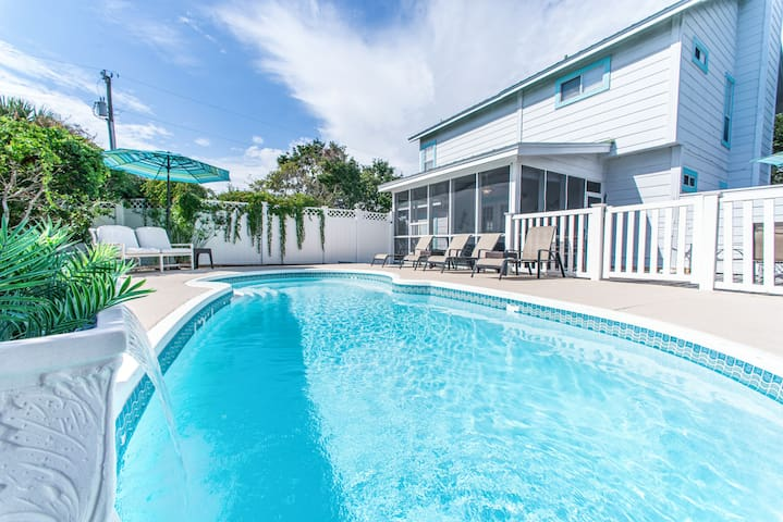 PRIVATE Pool-350yds to Beach ☀2 Step Sanitizing Process☀ 3BR Sugar Beach Cottage