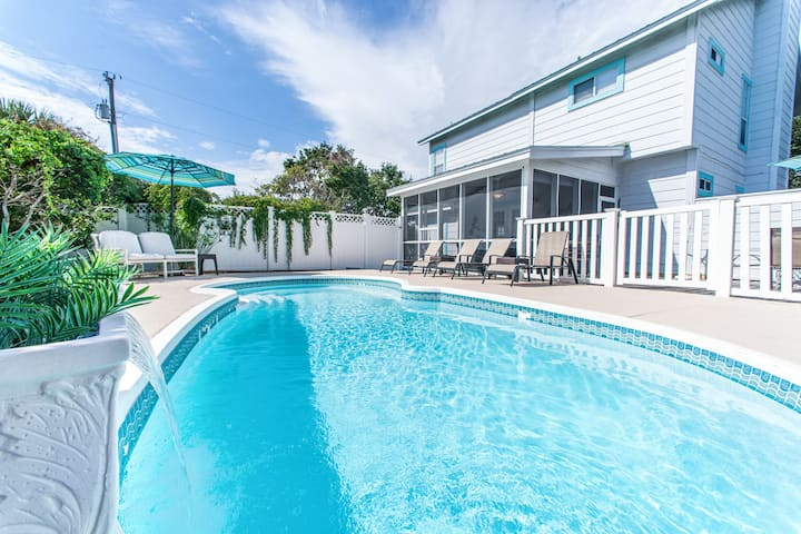PRIVATE Pool☀350yds to Beach☀2 Step Sanitizing Process☀3BR Sugar Beach Cottage