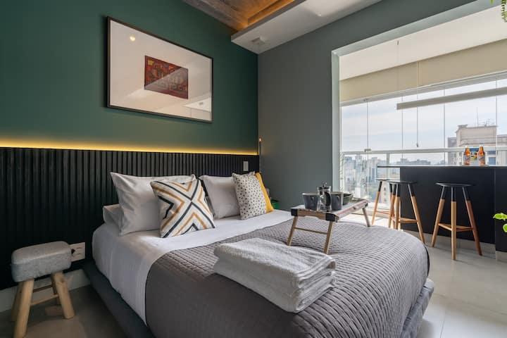 Loft 5 Estrelas - Conforto e Design na Rua Augusta