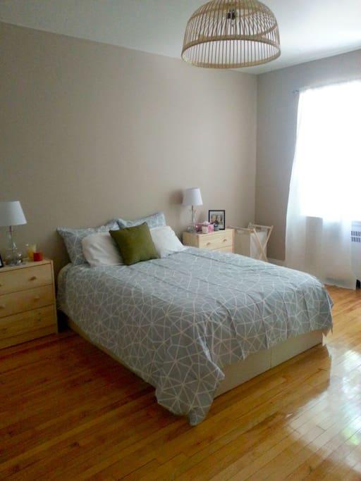Sunny bedroom.