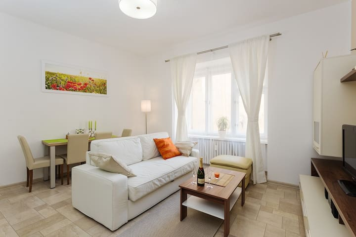 Cozy modern apartment 4 guests, City center Andel