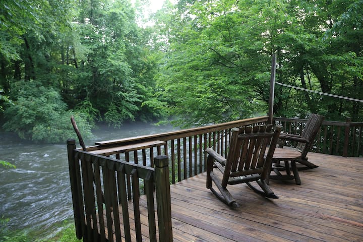 Riverfront Cabin on Private 7 Acres