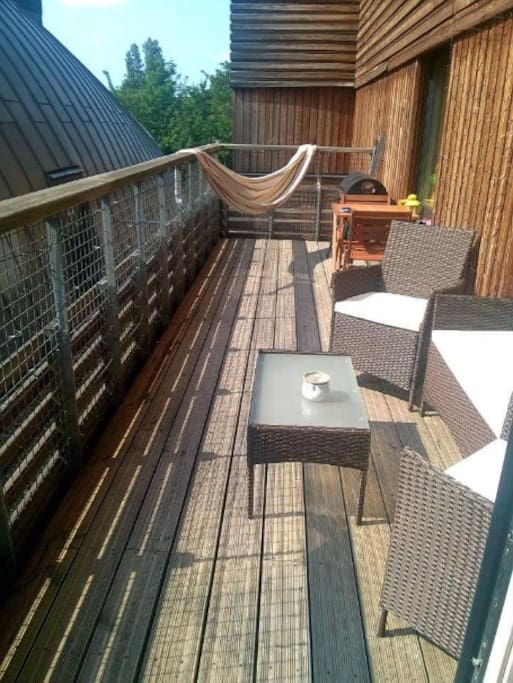 Beautiful terrace to enjoy any bit of sun