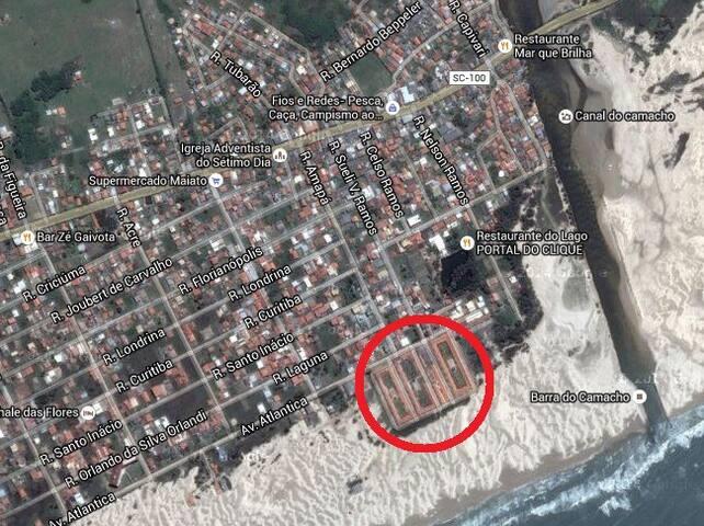 Apartamento a beira mar no Camacho