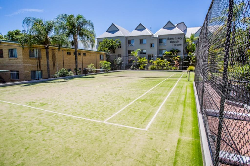 Full sized Tennis Courts with equipment available at reception