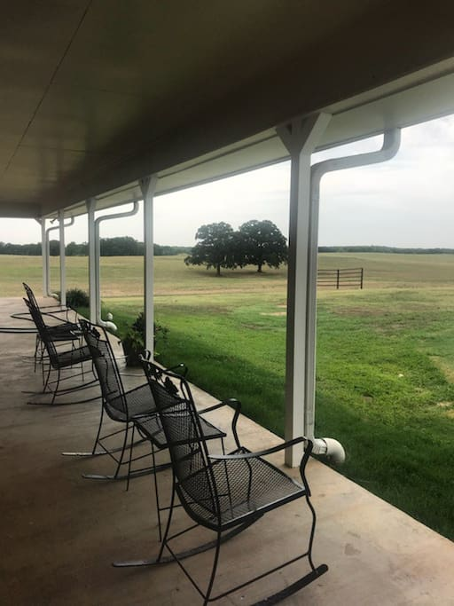 Sit on the large covered patio and take in a great Texas sunset!