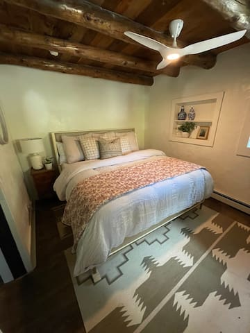 Guest room with super comfortable king-sized bed
