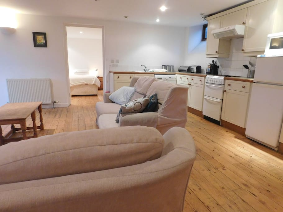 Spacious open plan living/dining/kitchen area