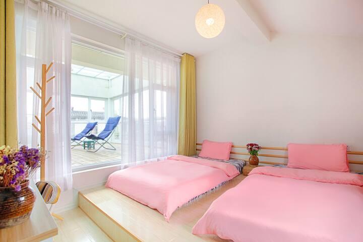 Tatami double bed room/Always Sunshine Villa Dali - Dali - House