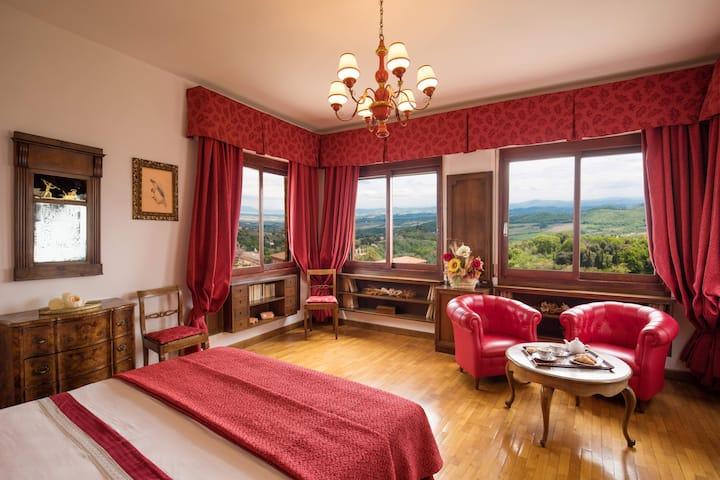 Suite Rossa nel centro storico di Montepulciano