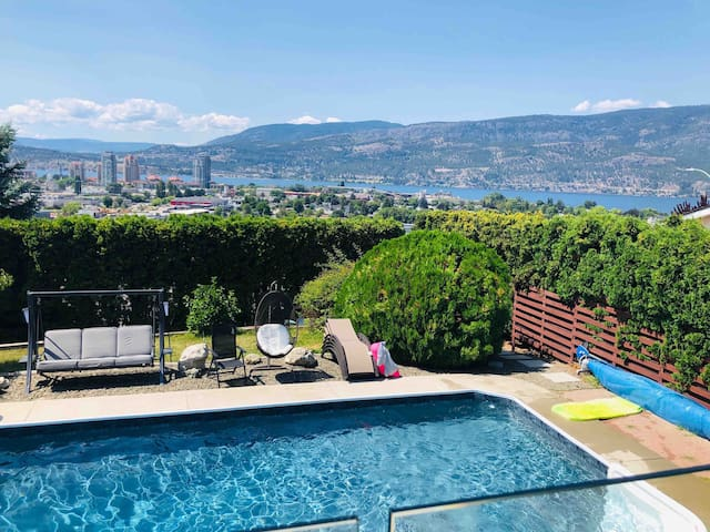 Knox Mountain luxury home with pool and a view!!!