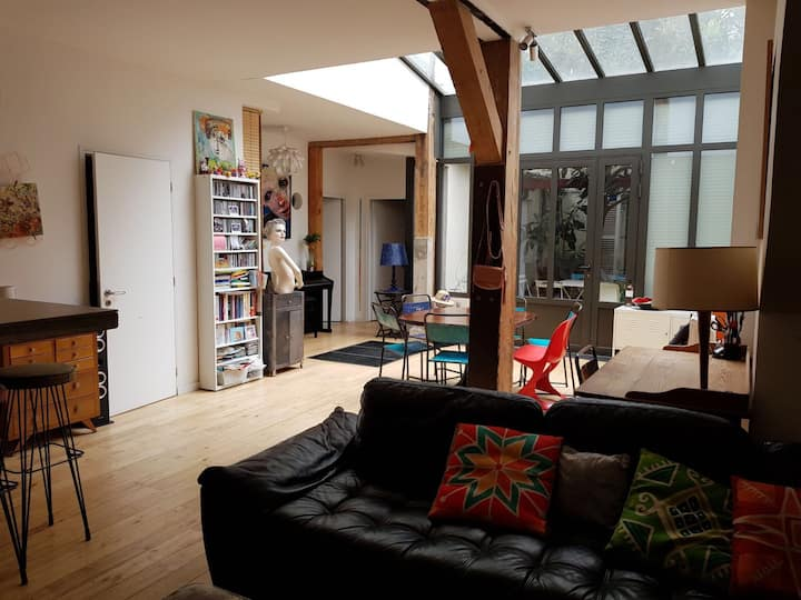 Loft avec cour privative Bastille