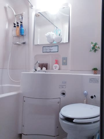 绝对干净的三合一独立卫生间  Very clean three-in-one independent bathroom