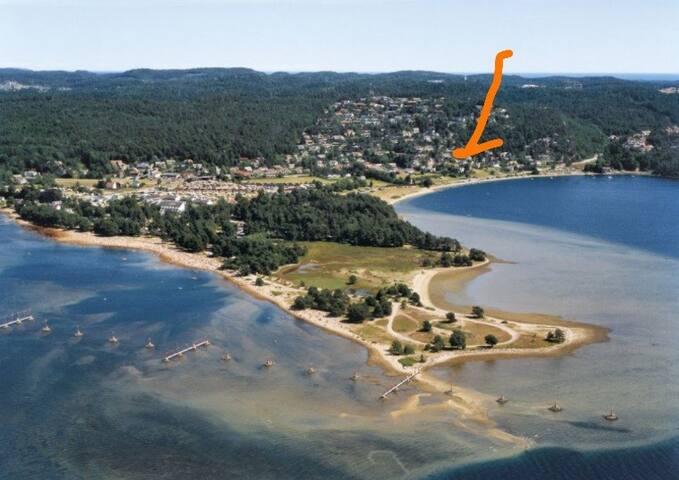 Utsikt / Hamresanden - nær Kristiansand  Dyrepark