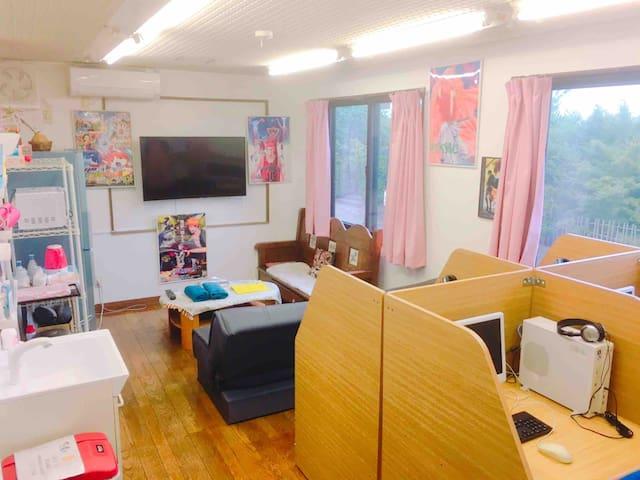 Manga House, 10 people can stay! 千叶漫画的家