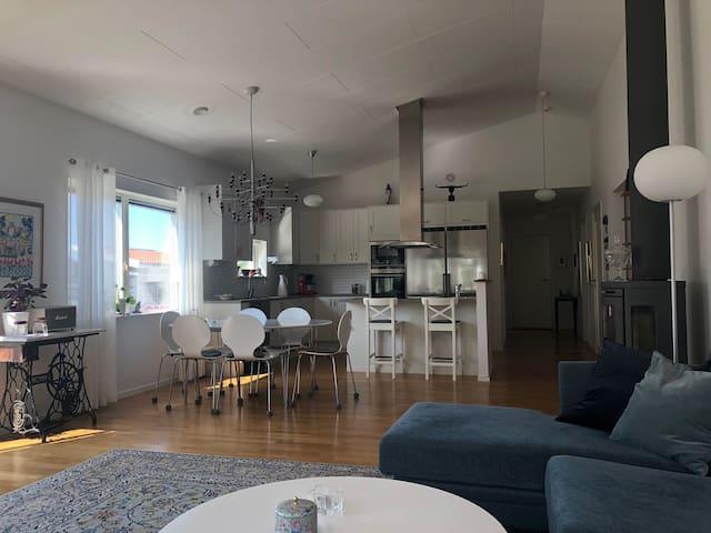 Modern villa med friggebod