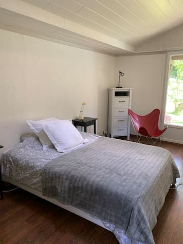 Big room in house with swimming pool, free parking