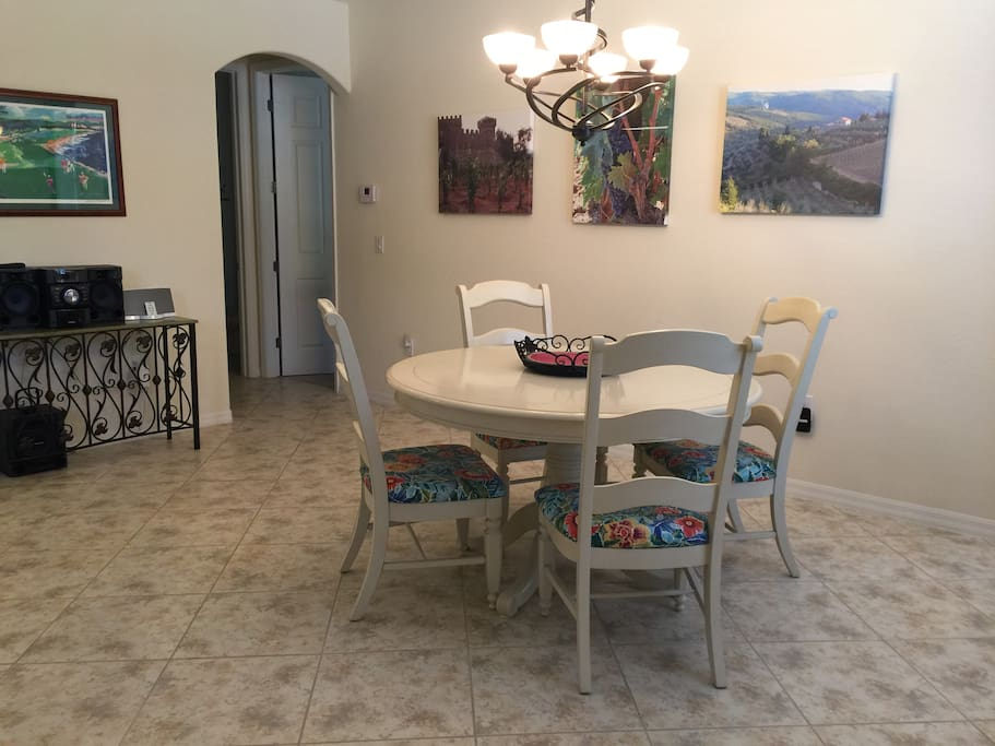 Dining table in main room