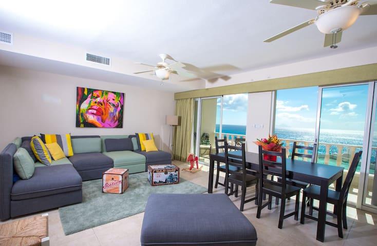 Ocean View modern condo, beach access, pool, - Lowlands - Apartment