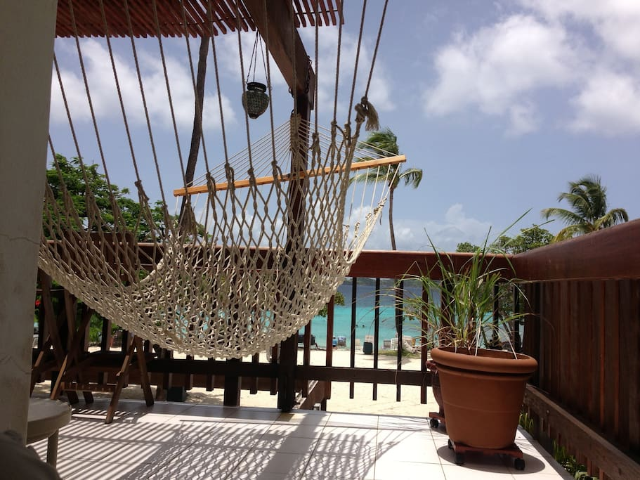 Your balcony hammock makes a great place to map