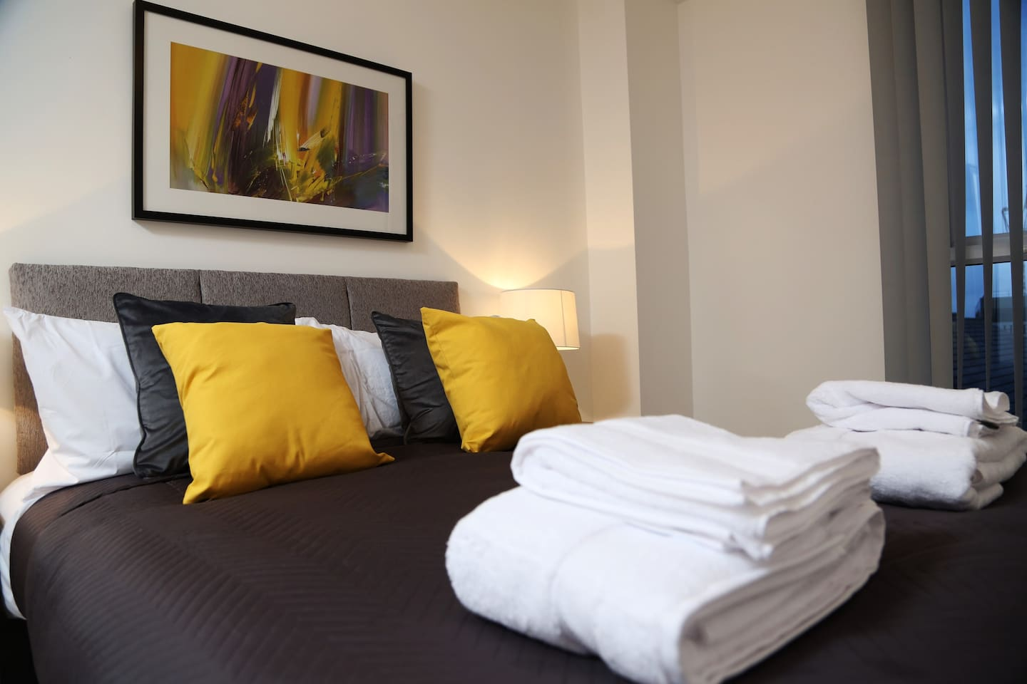 Our luxury stunning double bed with soft semi-Orthopaedic Mattress.