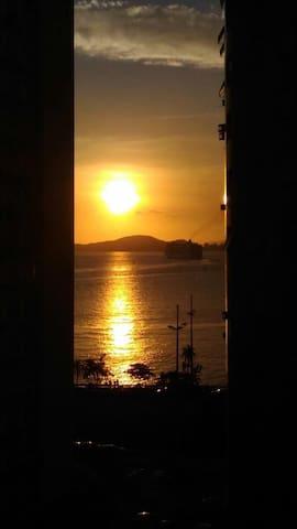 A Vista para o Mar, em Santos - Ponta da Praia