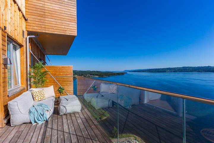 Suite i Mjøstårnet med nydelig utsikt