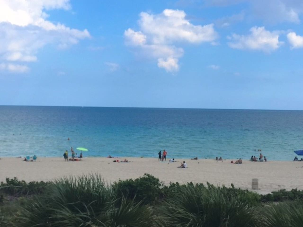 Beach view from the pool deck.  Direct access to the beach!!