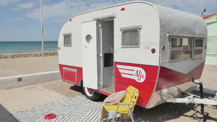 Retro Camping on the Beach