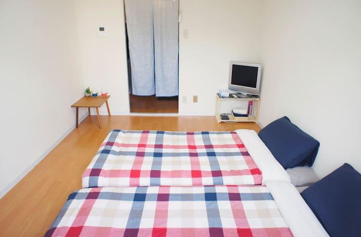 Osaka 雙床雙人房 Twin Room - Abeno Ward, Osaka - Huoneisto