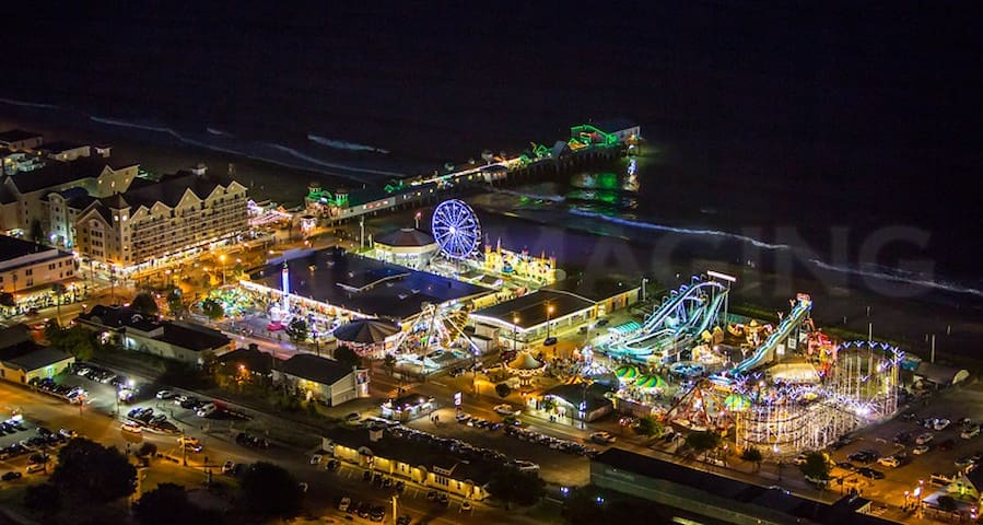 Old Orchard Beach at night.  A short 5-10 minute drive.