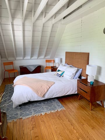 Bedrooom #2 with a queen bed and great views of the golf course