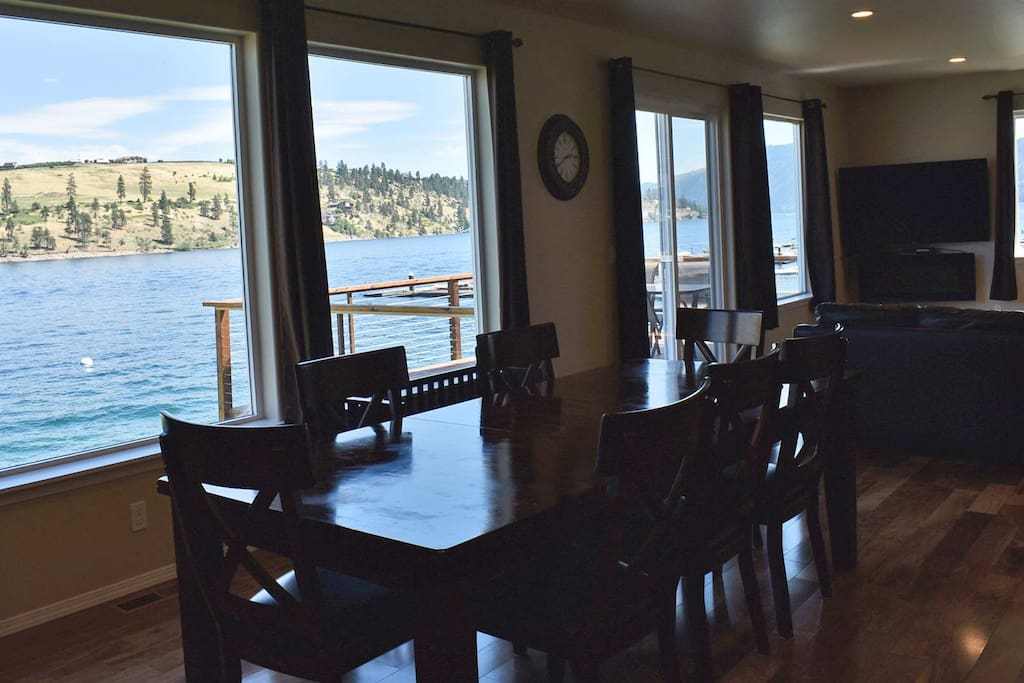 Beautiful views and the deck is perfect for relaxing and enjoying the views of the lake!