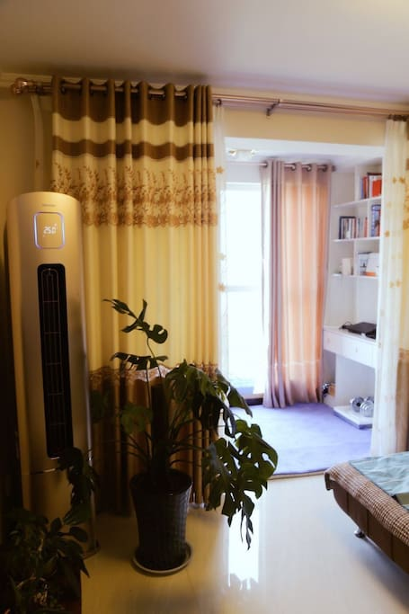 客厅-阳台(空调,书柜)