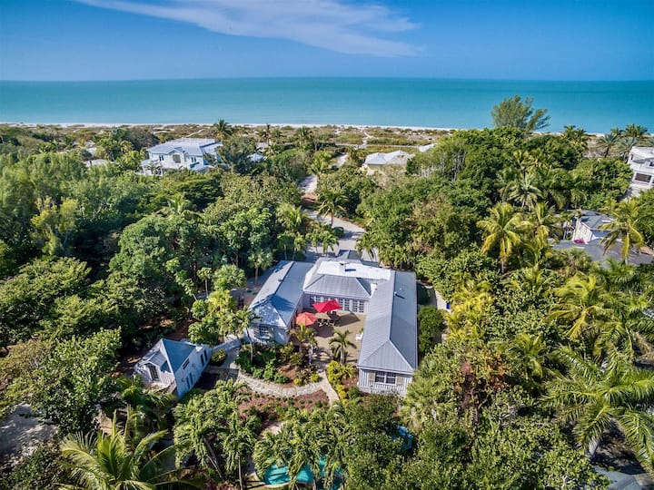 Palmflower House Captiva Beach Access and Boat Dock