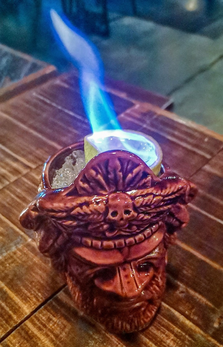 Try drinks that are literally on fire!