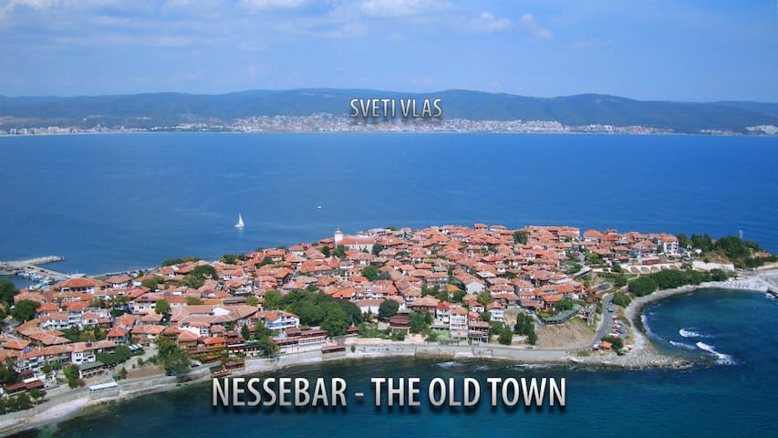 1000+ year old town of Nessebar is beautiful for sunset dinners with amazing restaurants just 15 mins by bus - a UNESCO heritage site