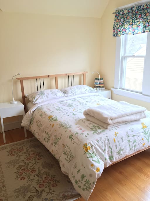 Full sized bed with comfy mattress