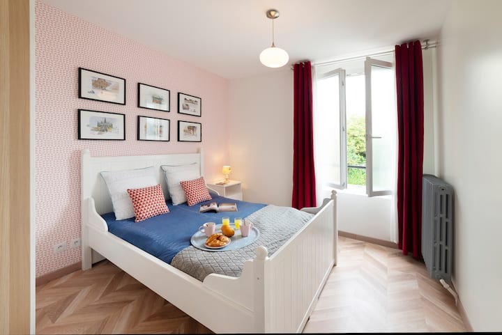Nearby Paris/ All equipped / Aircon / Parking free