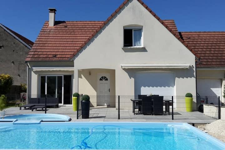 Chambre et SDB privative avec  piscine privée