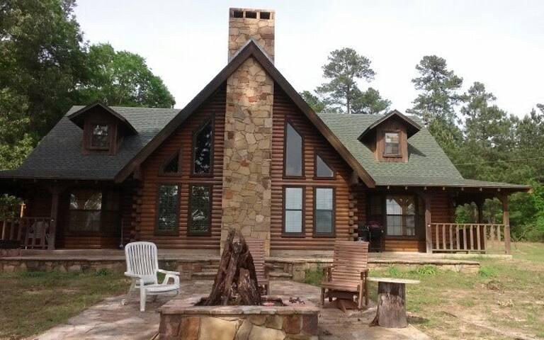 Custom Log Home on Private Lake / 80-Acre Estate