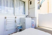 洗濯機 室外共用スペースに設置