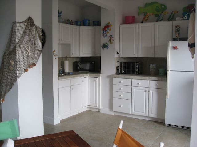 Kitchenette in Party Room walk out to boat dock and back patio - lower level